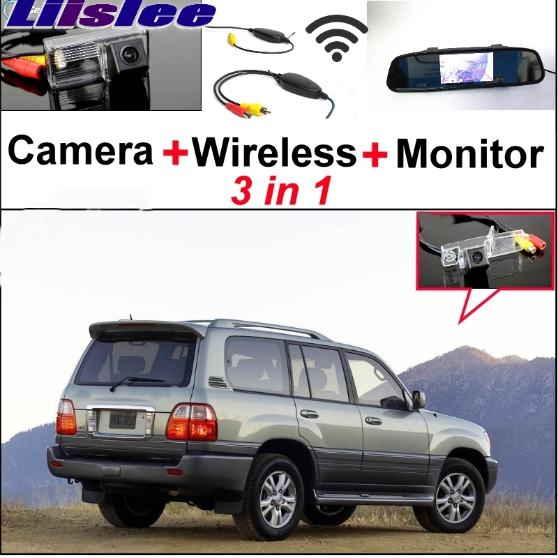 Liislee 3 in1 Special Rear View Wifi Camera + Wireless Receiver + Mirror Monitor Easy Parking System For LEXUS LX 470 LX470 J100 3 in1 special wifi rear view camera wireless receiver mirror monitor easy diy parking system for chevrolet malibu 2012 2014