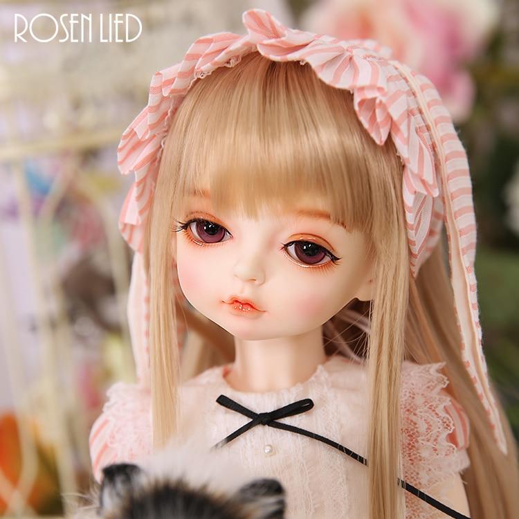 все цены на Rosenlied Holiday Pony BJD SD Doll 1/4 Resin Body Model Girls Oueneifs High Quality Toys Free Eyes Shop RL