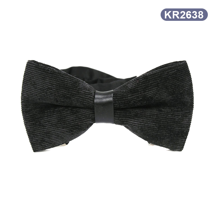 Solid British Corduroy Bowties Groom Men Cravat Butterfly Bow Ties Marriage Wedding Party Supplies -MX8