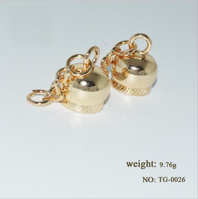 (50 PCSlot) luggage handbag die-casting alloy handbag decoration tassel crown bell hardware accessories