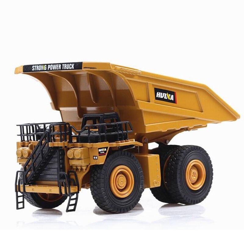 1 40 Scale Truck DieCast Alloy Metal Car Excavator Mining Dump Auto Truck Excavator Model Toy