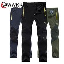 WWKK 야외 하이킹 전술 방수 바지 남성 등산 빠른 건조 낚시 트레킹 Softshell Trousers New wanderhose