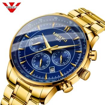 NIBOSI Mens Watches Top Brand Luxury Men Military Wrist Watch Stainless Steel Sports Men Watch Relogio Masculino Military Clock