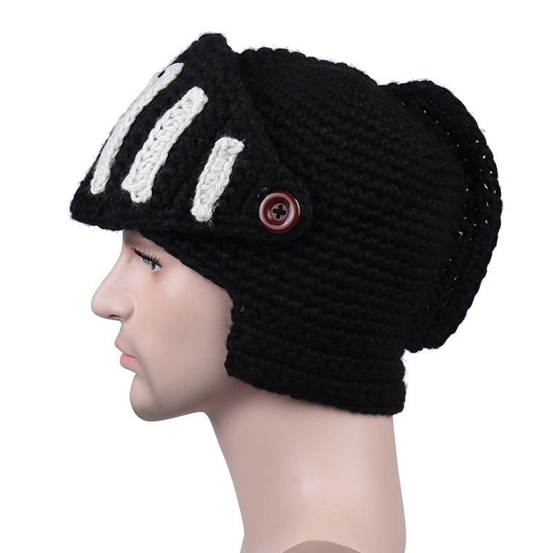 b560d1a7377d € 5.98 40% de DESCUENTO|[DINGDNSHOW] marca gorros algodón hombres máscara  gorra de invierno Caballero romano sombrero hecho punto 2018 del capó en  Los ...