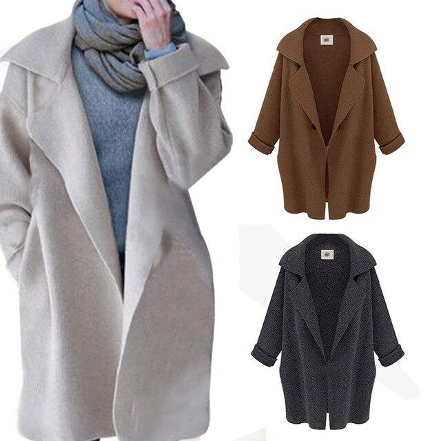 Новые Горячие Пиджаки Осень Зима Женщины Теплый Тонкий Стильный полный Рукав Вязаный Кардиган Пальто Куртки