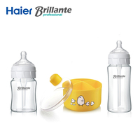 Haier Brillante Glass Baby Infant Feeding Milk Bottle Nursing Care Feeder Anti Colic Milk Powder Storage