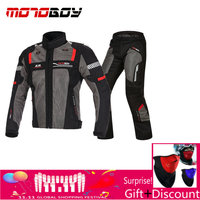 Motoboy Summer Set Motorcycle Mesh Suit Ventilation And Protective Jacket And Pant Set Motorsport Jacket Motor Racing Suit