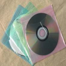 Ультратонкий двухсторонний чехол конверт для cd/dvd 100 шт/лот