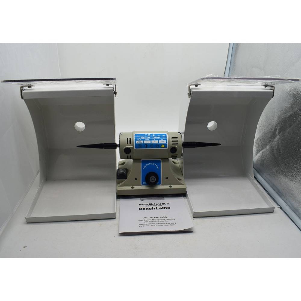 350w Bench Grinder Jewelry Polishing Machine With 2pcs