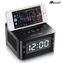 K7 Bluetooth Speaker Alarme de Cabeceira Relógio USB de Carregamento Do Telefone Móvel U Disco Jogador Som do Rádio Portátil Sem Fio Bluetooth Speaker