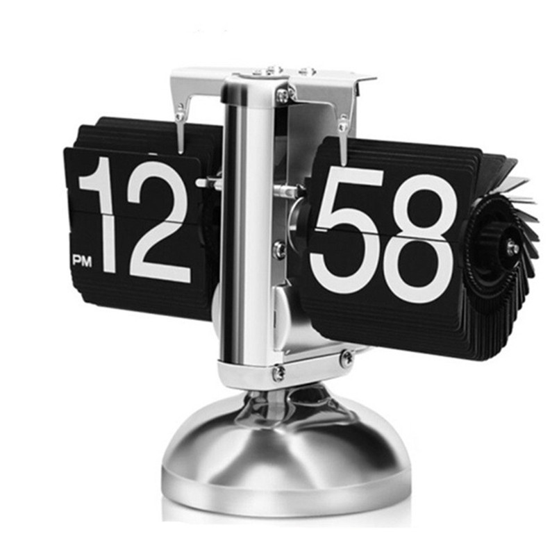 Page Turning Table clock European style Creative Digital Flip Clock Home Decoration Vintage Nixie clock Simple Table Clocks