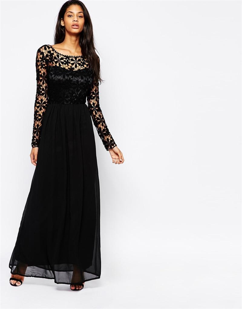 Long Sleeve Maxi Dresses Women