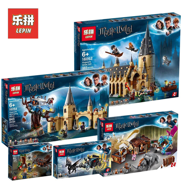 LEPIN Harri Potter 16030 16031 16060 16028 16052 16054 16055 16059 The Hogwart Castle Compatible Legoings 4842 75954 75953 71043