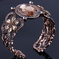 2015 new design vintage woman elegant bangles with crystals and rhinestone