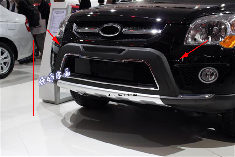 Free shipping 2008 2009 2010 2011 2012 For kia Sportage High quality plastic ABS Chrome Front+Rear bumper cover trim дефлекторы окон skyline kia sportage 3 2010 4 шт