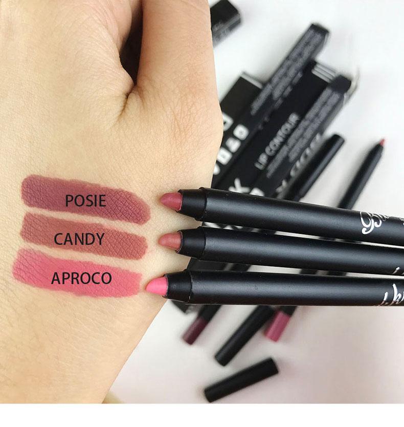 10 Color Brand Waterproof Nude Color Pigments Lipliner Pencils Moisturizer Cheap Makeup Lip Contour Lipstick Lips Liner Pen