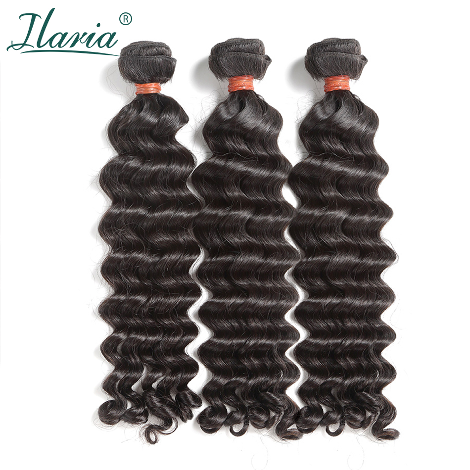 ILARIA HAIR 8A Mink Brazilian Virgin Hair 3 Bundles 10 30 Water Wave Can Be Bleached
