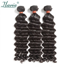 "ILARIA HAIR 8A Mink Brazilian Virgin Hair 3 Bundles 10""-30"" Water Wave Can Be Bleached to #613 100% Raw Human Hair Weave Bundles(China)"