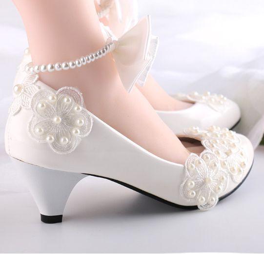 ФОТО 4.5cm heel ankle bracelet womens spring summer wedding shoe low med heels the bow bowtie bridal brides bridesmaids shoe XNA 249