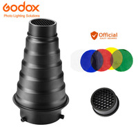 Godox SN 01 With Color Filter Conical Snoot Studio Flash Accessories Honeycomb Grid Light For Bowens
