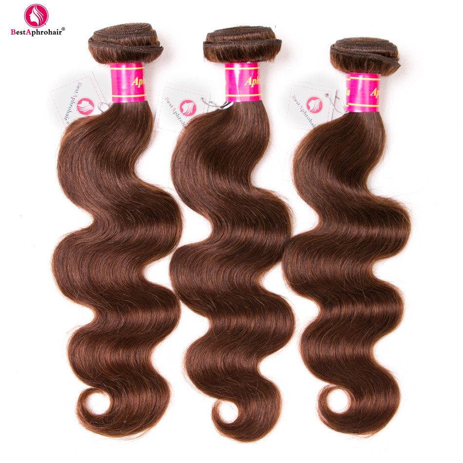 Aphro Brazilian Body Wave Bundles 8-28inch Menneskehår 3 Bundle - Menneskehår (sort)