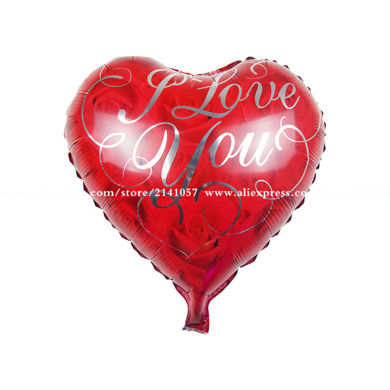 10PCS I LOVE YOU Heart Balloon diamond Wedding Marry Foil Helium Decorative Ball