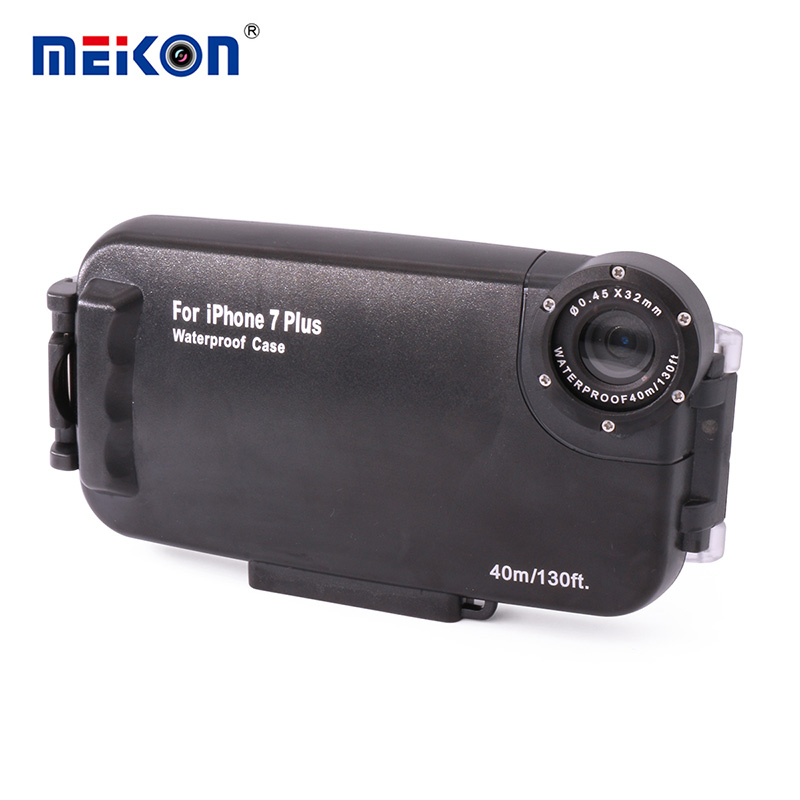 40m 130ft Underwater Camera Housing Photo Taking Waterproof Diving Protective Case Cover for Apple iPhone 7