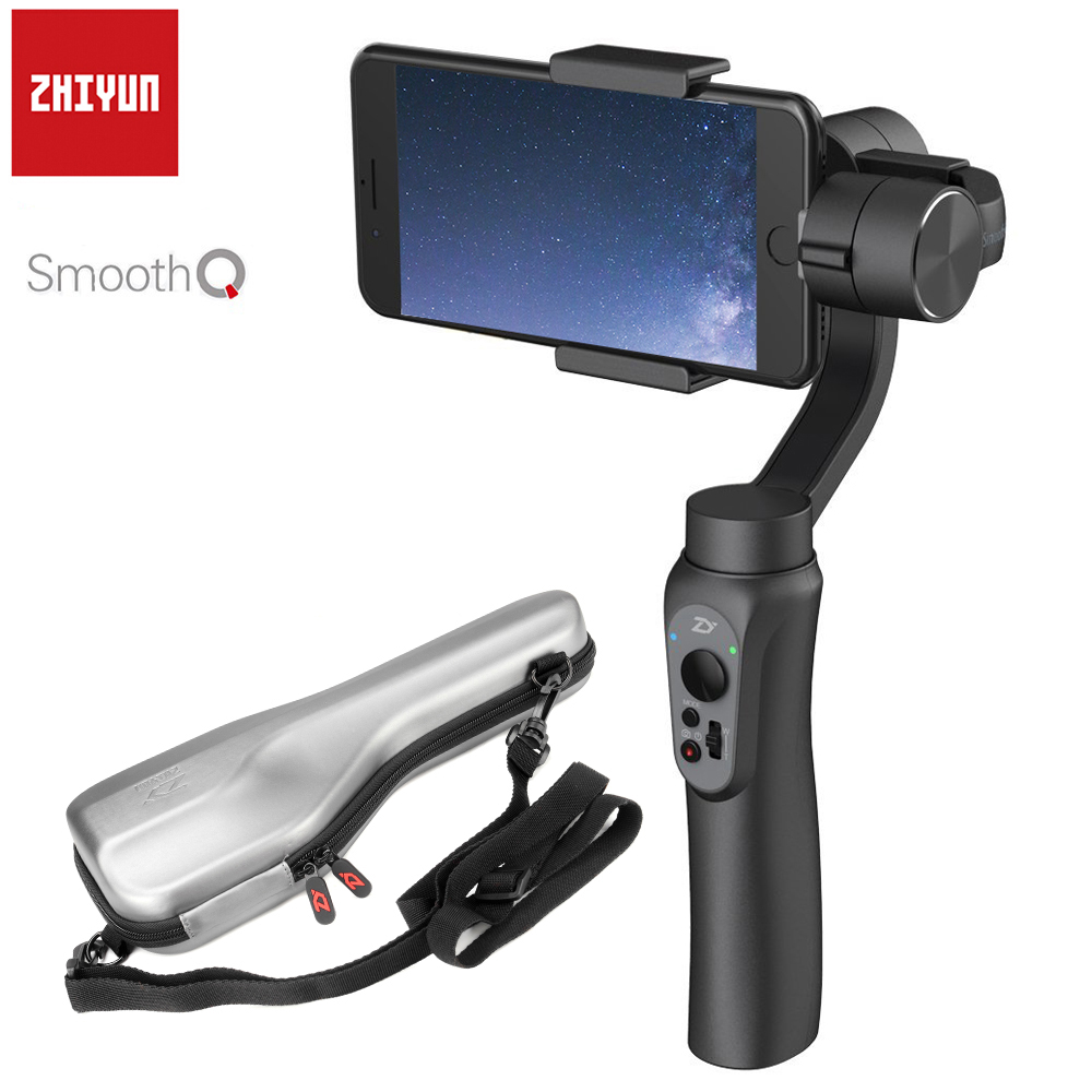 Zhiyun Smooth Q 3-Axis Handheld Gimbal Stabilizer Remote Control Selfie Light for Smartphone iPhone X 8 7 7P 6S Samsung S8 S7 S6