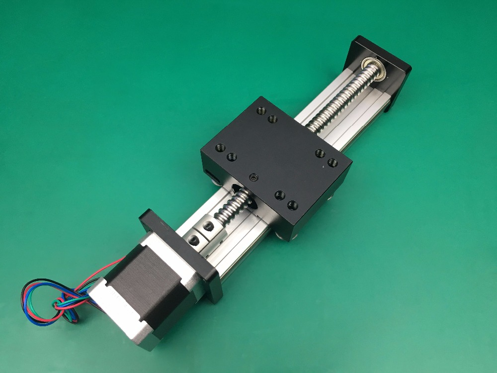 SGK 1204 200MM 1204 ball screw linear slide module + 1pc nema 17 Stepper Motor Torque 0.45NM ggp 1610 200mm ball screw linear slide modules 1pc nema 17 stepper motor stage