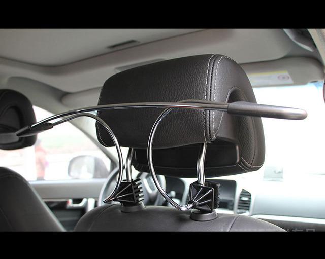 Acero inoxidable perchas de calidad del coche suspensión del coche de rack rack de ropa traje estante suspensión del coche