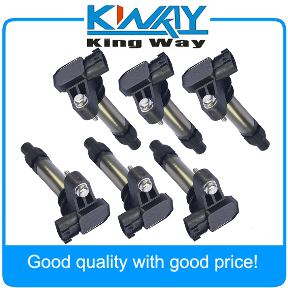 Audi VW V6 3.2L 3.6L Set 6 Kits Ignition Coil With Electrical Connector Fits