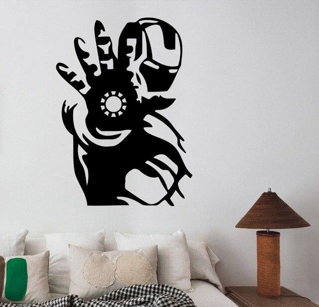 Iron Man Wall Art Decal Tony Stark Vinyl Sticker Marvel ...