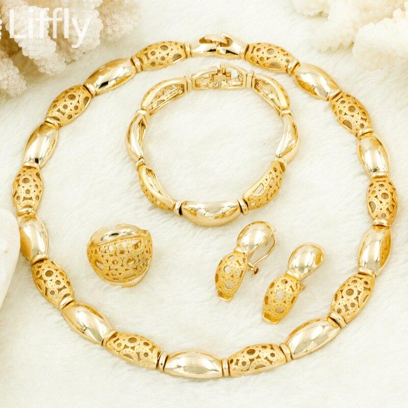 Wholesale Top Fine 2019 Turkey Women Jewelry Sets Wedding Gold