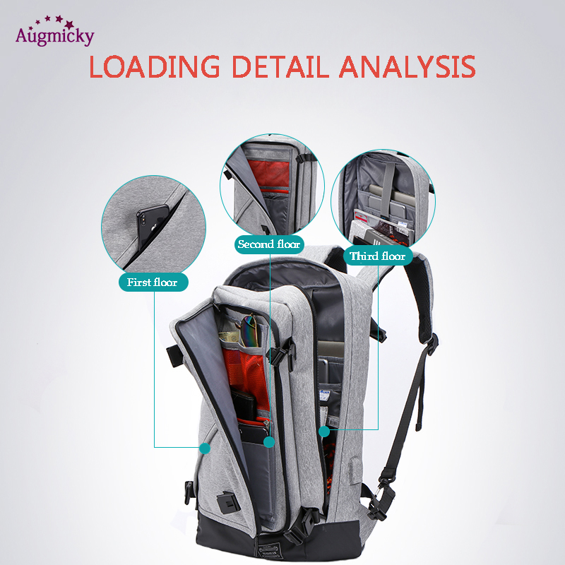 Image 2 - USB Charge Large Capacity 15.6 Laptop bag Men Backpack Travel Backpack Bags For Women Teenagers Computer School Bagpack Rucksack-in Laptop Bags & Cases from Computer & Office