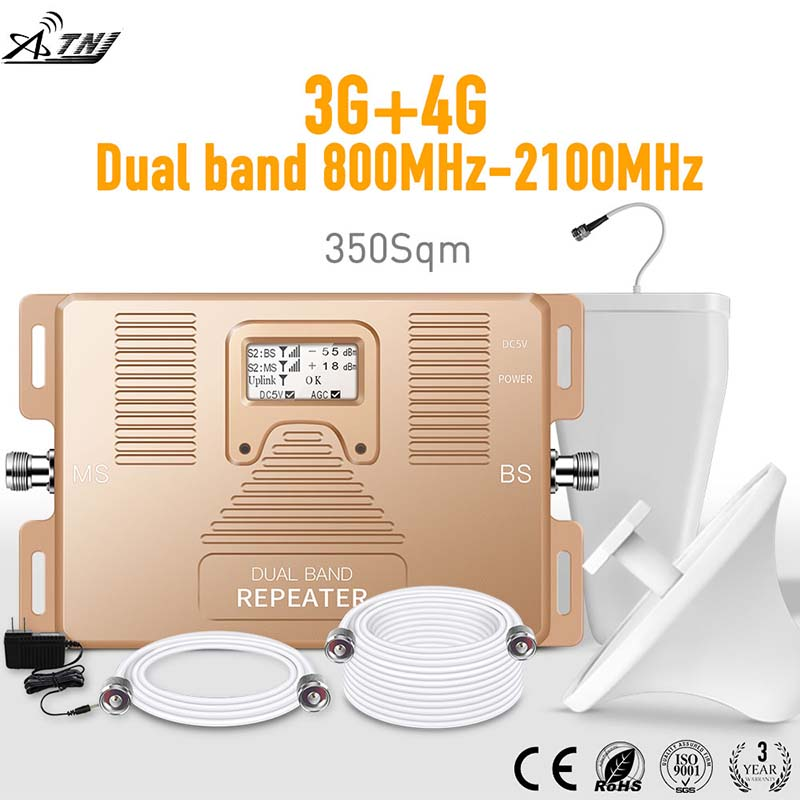 Specially For Russia 3G+4G Mobile Signal Amplifier MegaFon Vodafone MTS Orange Cellualr Signal Amplifier LCD Signal Booster Kit