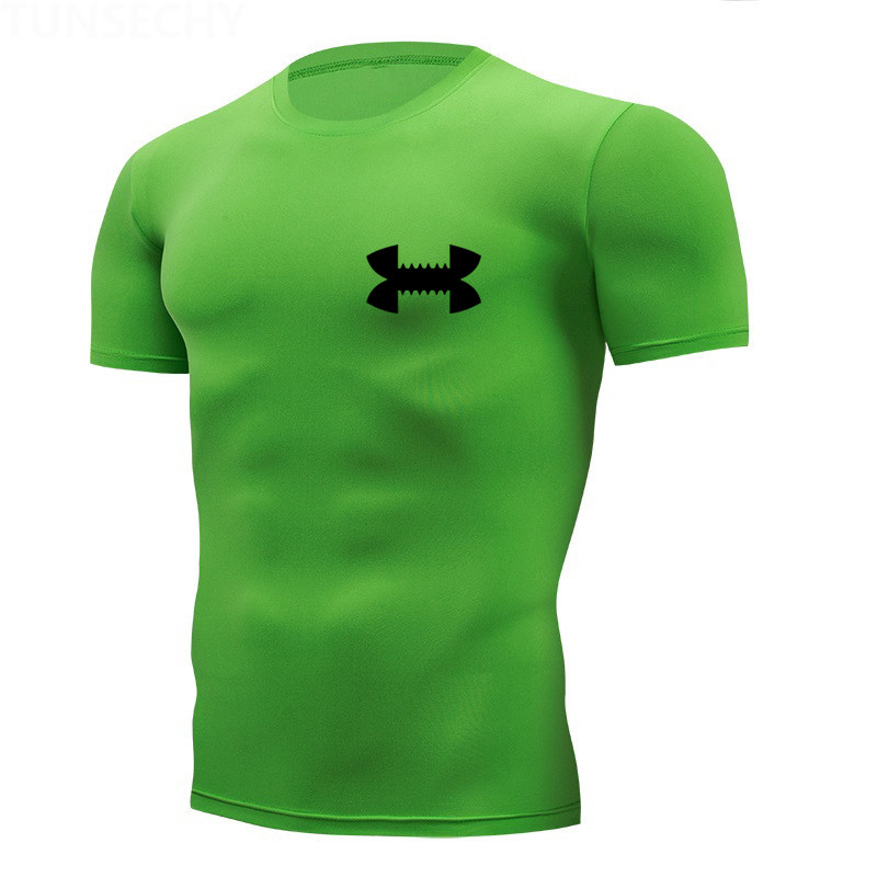 Shirt Homme Running Men Designer Quick Dry T-Shirts Running Slim Fit Tops Tees Sport Men's Fitness Gym T Shirts Muscle Tee 2019