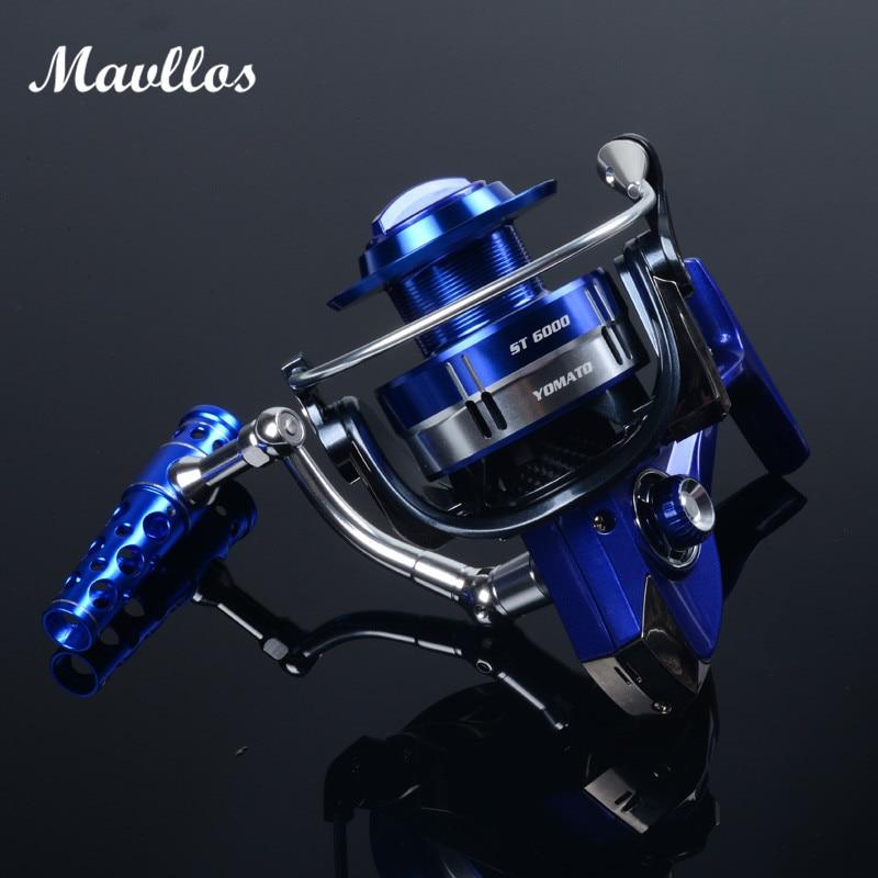 Mavllos 20Kg Max Drag Power Saltwater Jigging Fishing Reel ST6000 7000 11BB Ratio 4.9:1 Aluminum Alloy Boat Reel