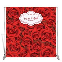 Custom Red ROSES Flower Birthday Anniversary background High quality Computer print wedding photo backdrop