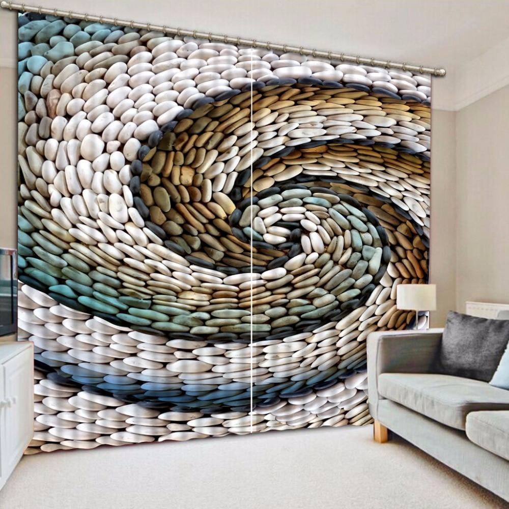 US $49.2 59% OFF 3D Vorhänge Kreative kiesel Fenster Vorhang Für Wohnzimmer  Badezimmer Dekoration-in Vorhänge aus Heim und Garten bei AliExpress