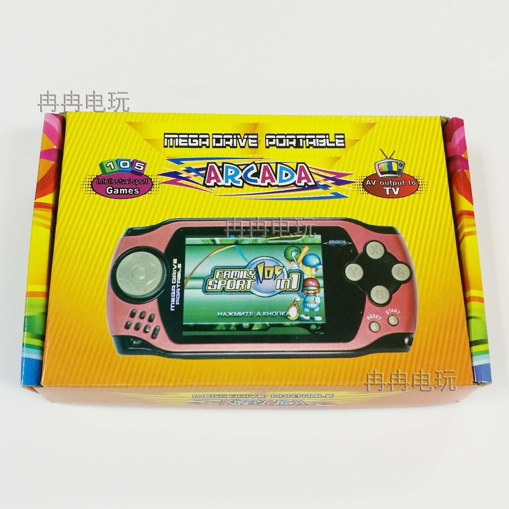 Handheld Game Players with 3 inch HD Screen Game 32bit Portable Game Consoles bulit in with 105 Games Free shipping