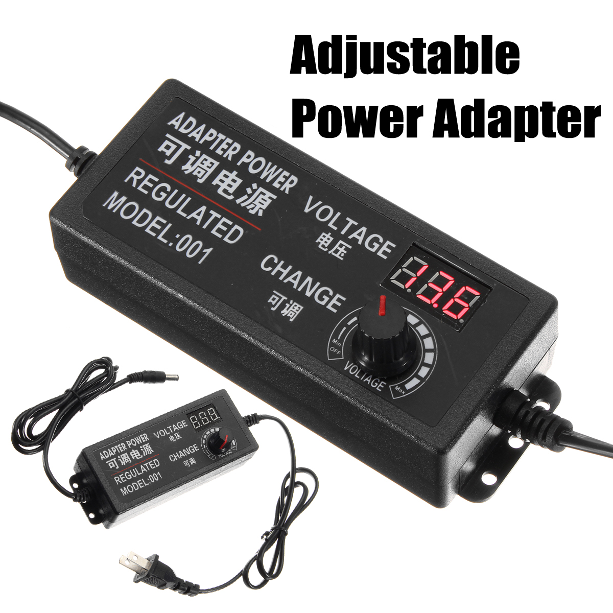 LEORY AC/DC Adjustable Power Adapter Supply 9-24V 3A 72W Change Power Supply US Plug Speed Control Volt Display Multi-protectionLEORY AC/DC Adjustable Power Adapter Supply 9-24V 3A 72W Change Power Supply US Plug Speed Control Volt Display Multi-protection