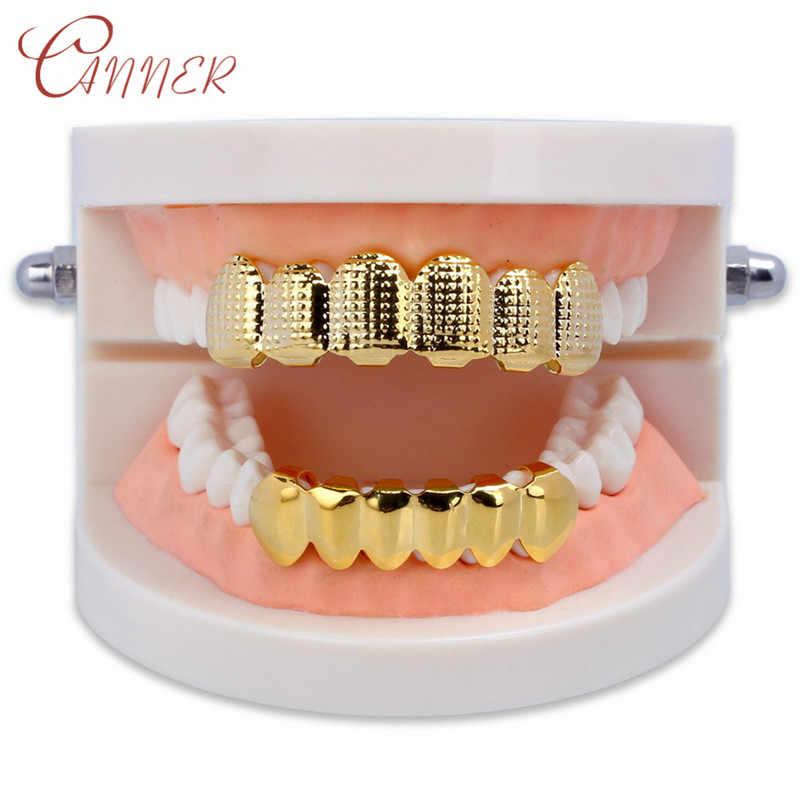 CANNER хип-хоп ЗУБЫ Grillz Топ и низ Bump решетки стоматологические грили вампир косплей зубы шапки грили Рэппер рот ювелирные изделия