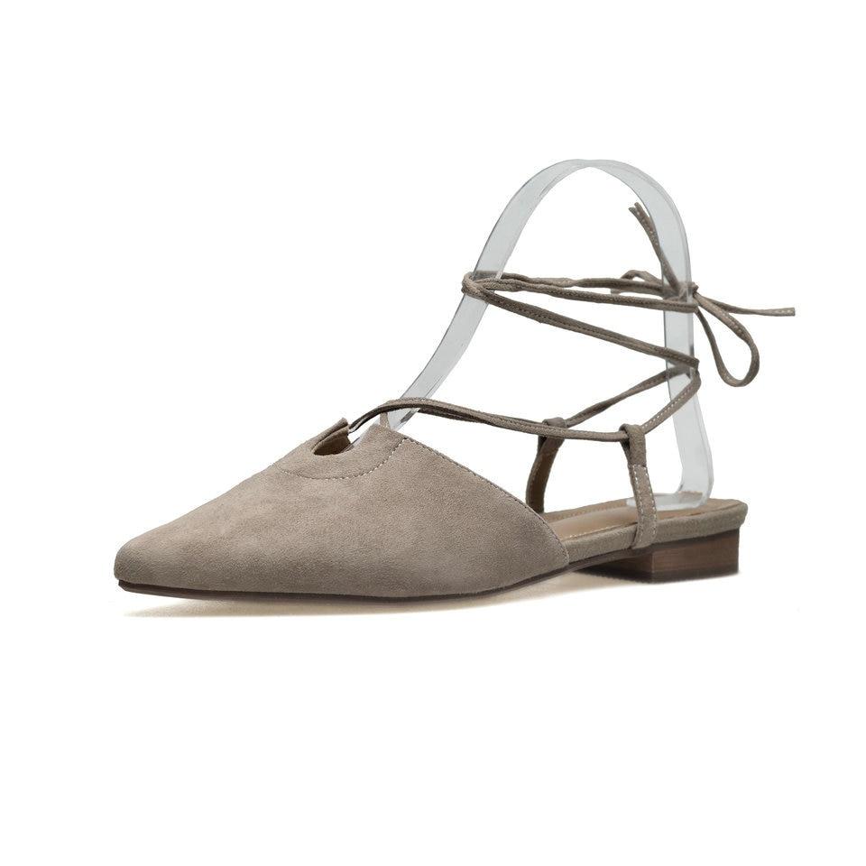 Kid Cheville Sandales Mariage Suede Eshtonshero Chaussures 39 Pu Femme D'été De Taille gris Bout Noir Plat Solide Boucle Talon Dames rose Plage Pointu 34 tCtwPnqI