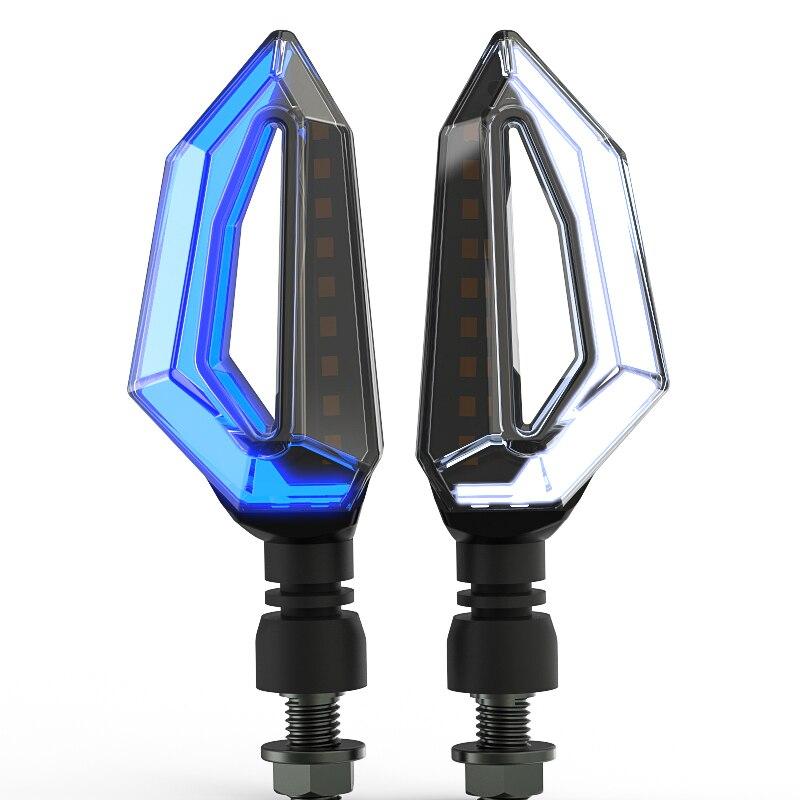 Wasserdichte Motorrad lenkung modifizierte zubehör LED blinker tagfahrlicht hohe helligkeit blinker freies shippin