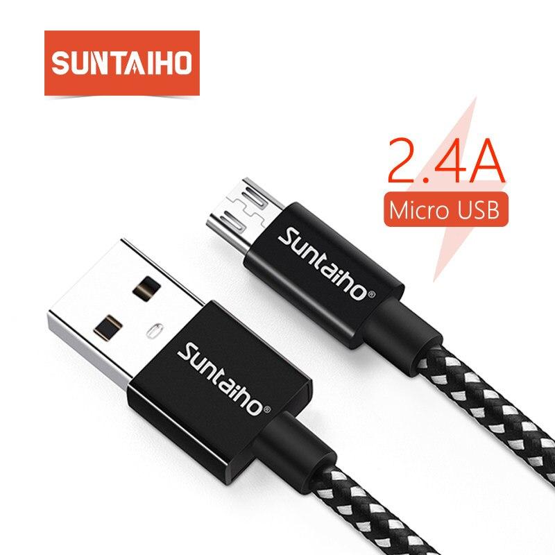Suntaiho micro usb Câble 2.4A Téléphone Rapide câble de chargement pour samsung Huawei Xiaomi Redmi LG Microusb cordon du chargeur micro usb Cordon