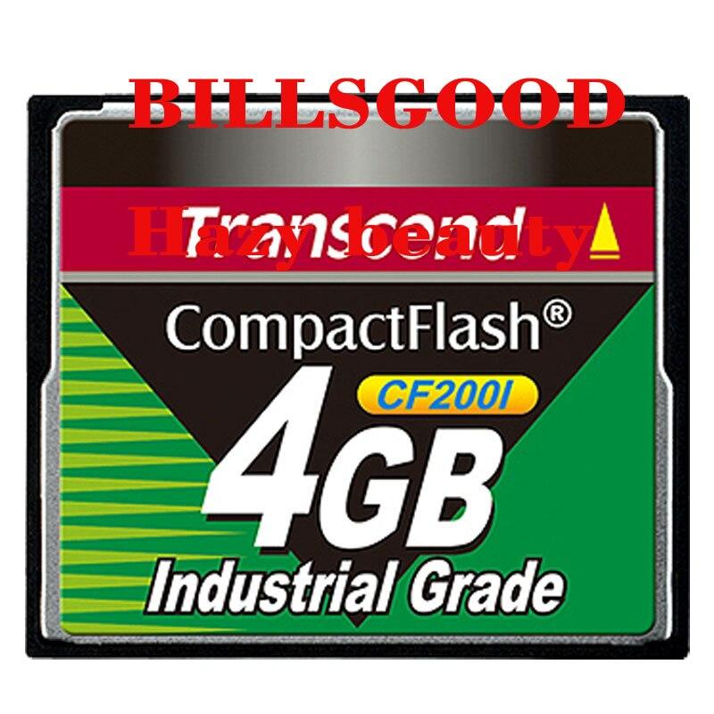 TS4GCF200I Brumeux Transcend Industrial large temp CF carte 4G CF200I SLC 4 GB carte cf