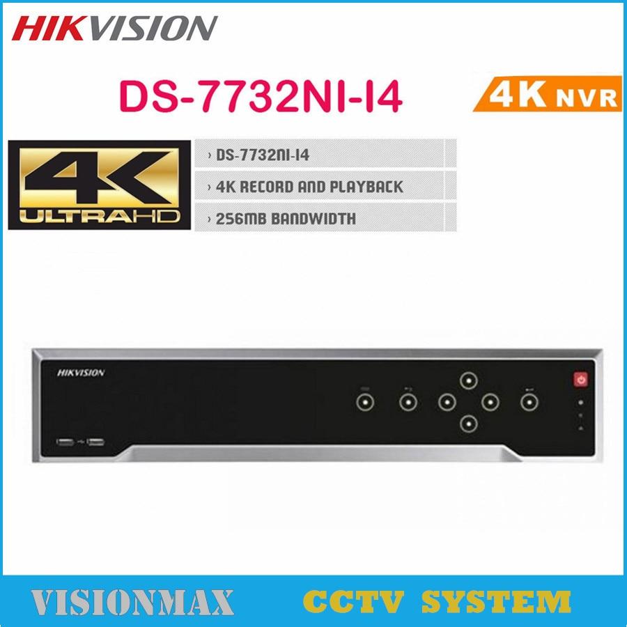 Hikvision 32CH CCTV NVR DS 7732NI I4 4K Embedded H 265 Alarm Video Recorder Onvif 4