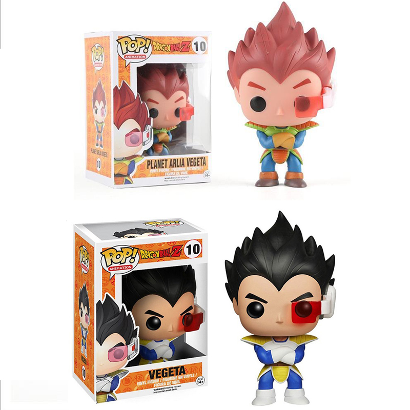 FUNKO POP Dragon Ball Z Planet Arlia VEGETA Exclusive #10 Vinyl Action Figures Doll Cartoon Anime Figure Toys Birthday Gifts2F66