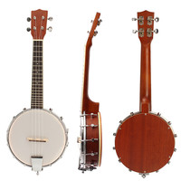 Zebra 23'' Sapele Nylon 4 Strings Concert Banjo Uke Ukulele Bass Guitar Guitarra For Musical Stringed Instruments Lover Gift