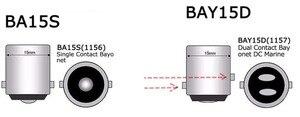 Image 3 - BA15S Strobe BAY15D 1156 פלאש 1157 5050 27SMD תמיד בהיר ba15s 24V הפעל אות StrobeTaillight היפוך אור BAY15D